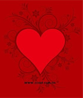 Red heart-shaped pattern