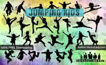 22 Vector Jumping Kids