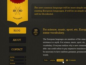 Site template - dark and yellow