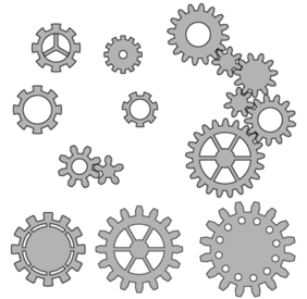 Vector Gear Wheels Stock
