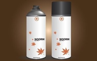 Noor Body Spray en blanc peut