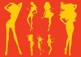 Party Girl Silhouettes