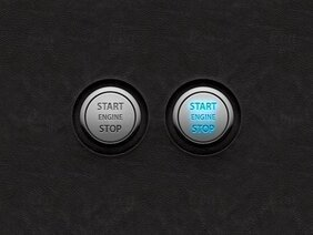 Vektor Start/Stop Engine UI knappar