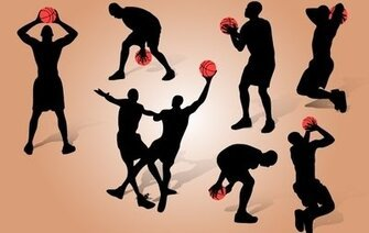 Basketball Playing Pack Silhouette
