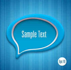 Creative dialog blue background