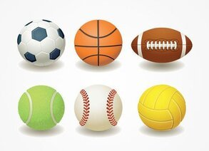 Football, Basketball, Rugby, Teniss & Baseball Ball