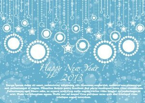 Feliz ano novo 2013 Blue Card