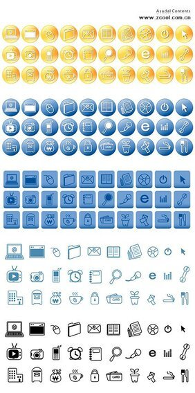 Simple vector icon theme line material