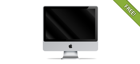 PSD Apple iMac front view