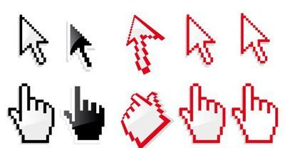 Hand and arrow cursor