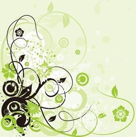 Floral Swirl Background Abstract
