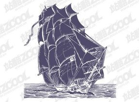 Pen Drawing Style Sailing Vector Material Boats Ocean Pen Drawing