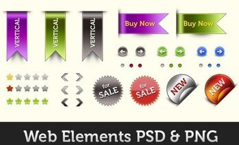 Element PSD och PNG webbdesign