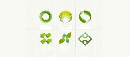 6 Nature Green Environmental Logos