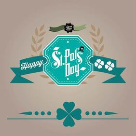 Retro St Patrick's Day Card