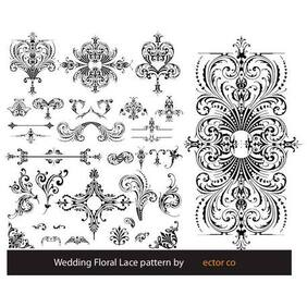 FLORAL LACE PATTERN VECTOR.eps