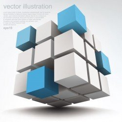 Free Vector Stereoscopic technology background