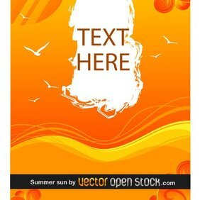 SUMMER SUN VECTOR BACKGROUND.ai