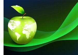 Apple Earth Vector 4