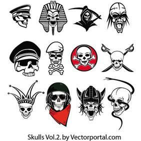 SKULLS FREE VECTOR PACK 2.eps