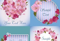 Cards with flower frames