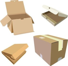 Cardboard Boxes Blank