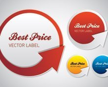 Best price vector label