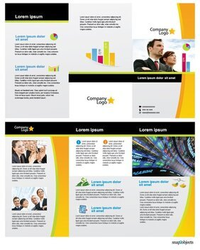 Free Business Vector Brochure Template in Illustrator