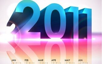 Cool Calendar 2011- Vector Design Calendar Vector File