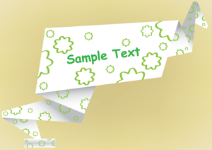 Origami Paper Banner Vector Free