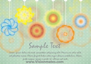 Watercolor Flowers Vector Card