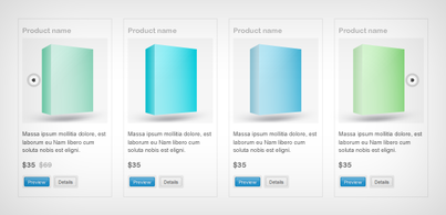 Product slider (Free PSD)