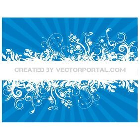FLORAL SUNBEAM STOCK VECTOR BACKGROUND.eps