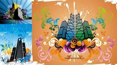 Trend pattern vector material and construction