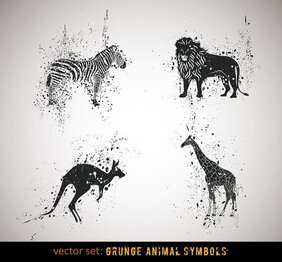 Ink Animals Vector 1