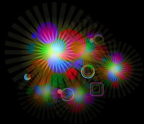 Abstract Glowing Light Effect Illustrator Background