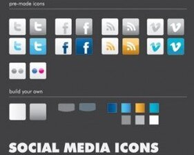 Stock Vector : Social Media Icons