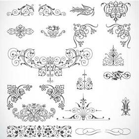 85 Vintage Vector ornaments