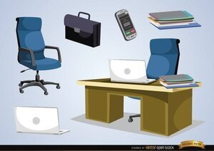 Office furniture and objects