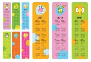 Very cute Vector 2011 Calendar