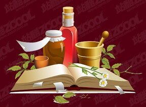 Chinese herbal medicine Vector Illustration material