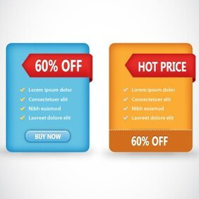Two Vector Discount Boxes with features
