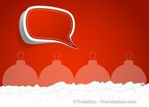 Speech Bubble Christmas Background