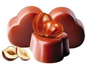 Stock Ilustrations Nut-Chocolate