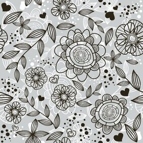 FLORAL PATTERN VECTOR BACKGROUND.eps