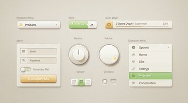 Vanilla Cream UI Kit - Submitted by Olga