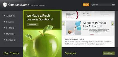 Business website template (HTML & PSD)