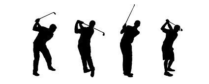 People silhouette Vector golf material