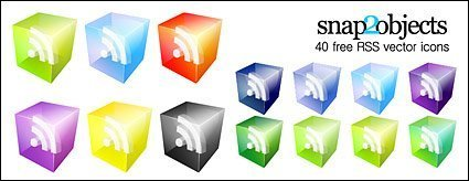 Vector Icons 3D RSS Subscribe to material