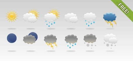 12 Free Weather Icons